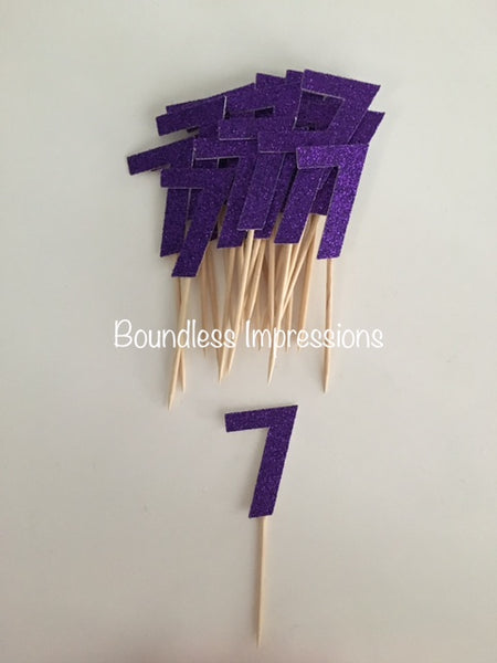 Cupcake Toppers 'Number' (Set 10)