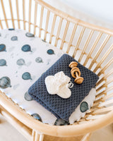 Diamond Knit Baby Blanket - River