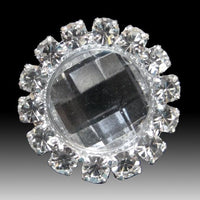 Deluxe Round Clear Diamante Cluster Embellishments (Pkt 10)