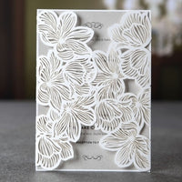 Lasercut 'Floral Lace' Invitation (Enclosure with Envelope Only)