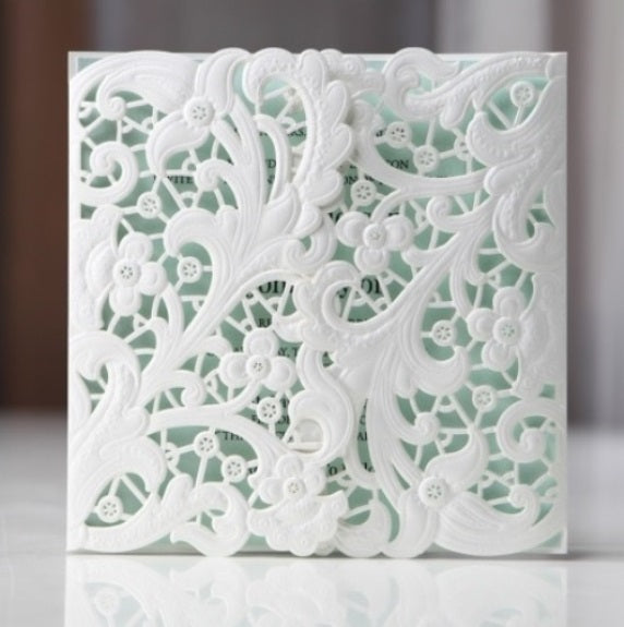 DIY Gatefold Floral Lasercut Enclosure + Envelope