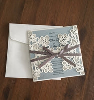 DIY 'Touch of Class' Lasercut Invitation Enclosure + Envelope