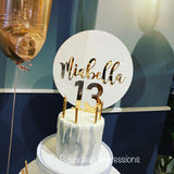Acrylic 'Number' Cake Toppers