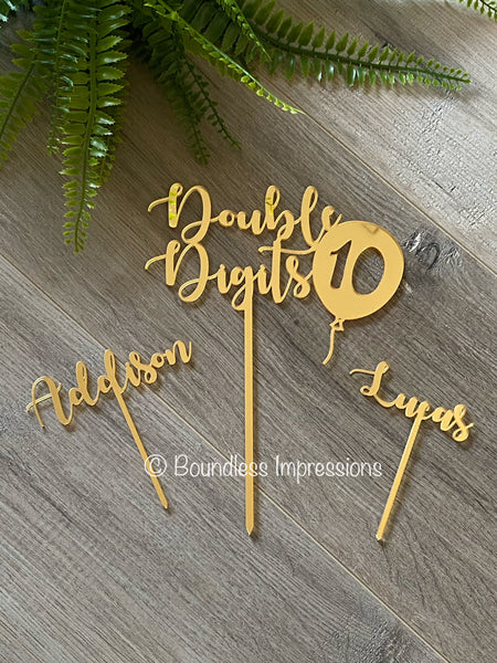 Acrylic Cake Topper (3 Piece Set)