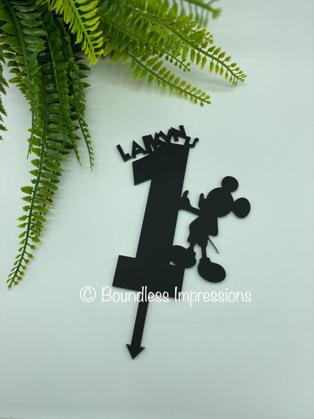 Acrylic 'Image' Cake Toppers