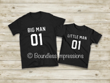 Matching Men/Kids Shirt Sets - Big Man/Little Man