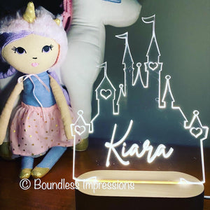Personalised Cut Out Night Lights - Beech