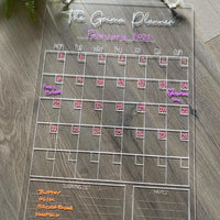 Personalised Monthly Plus Wall Planner