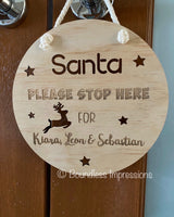 'Santa Please Stop Here' Plaque