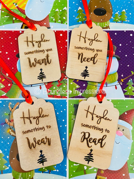 Personalised Christmas Gift Tag Set