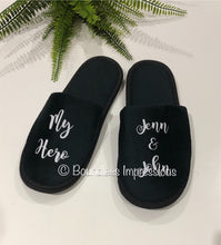 Load image into Gallery viewer, Personalised Slippers - Closed Toe (Black)