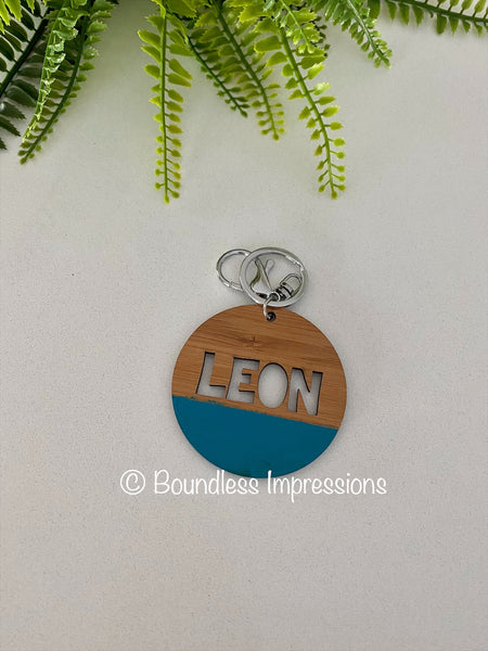Round Name Keyring/Bag Tag