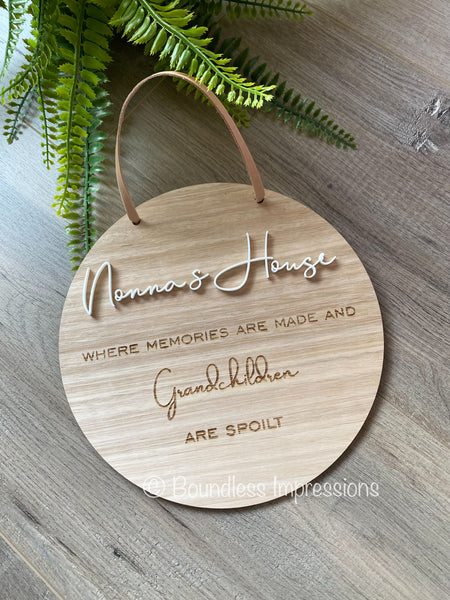 Hanging Timber Wall Plaque