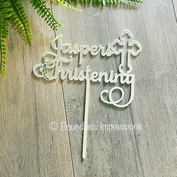 Acrylic Cake Topper Christening/Communion - Style 2