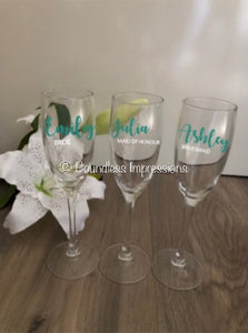 Custom Design Champagne Glass