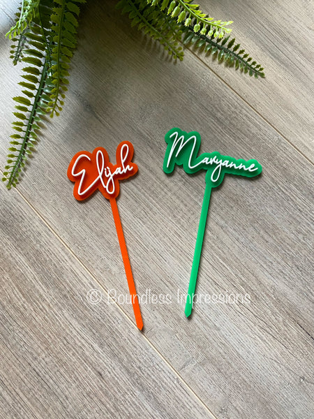 Mini 2 Layer Acrylic Cake Topper (8cm)