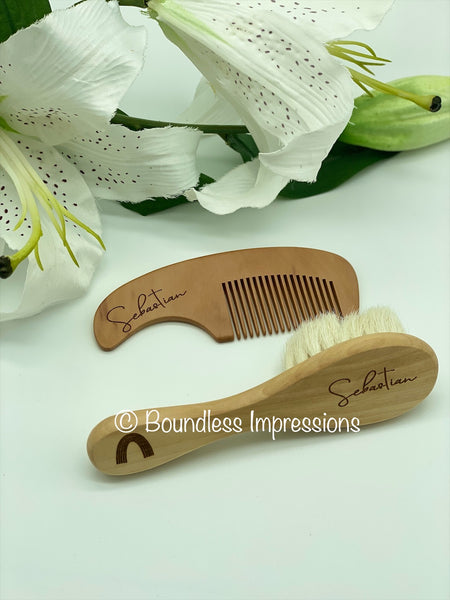 Personalised Baby Hair Brush/Comb Set