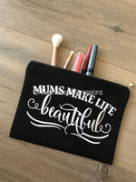Canvas Make-up Bags (Black)