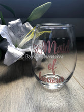 Load image into Gallery viewer, Personalised Stemless Wine Glass