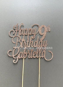Cake Topper (3 Lines)