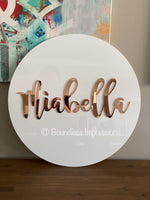Round Acrylic Sign/Plaque