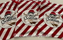 Load image into Gallery viewer, Personalised Santa Sack (Merry Christmas Stripe) No.4