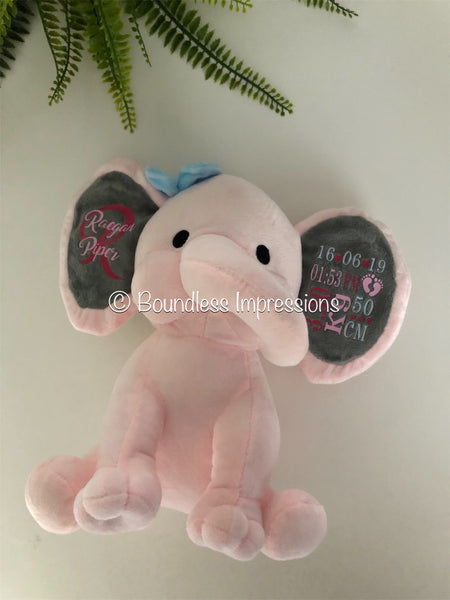 Personalised Baby Elephant (Pink)