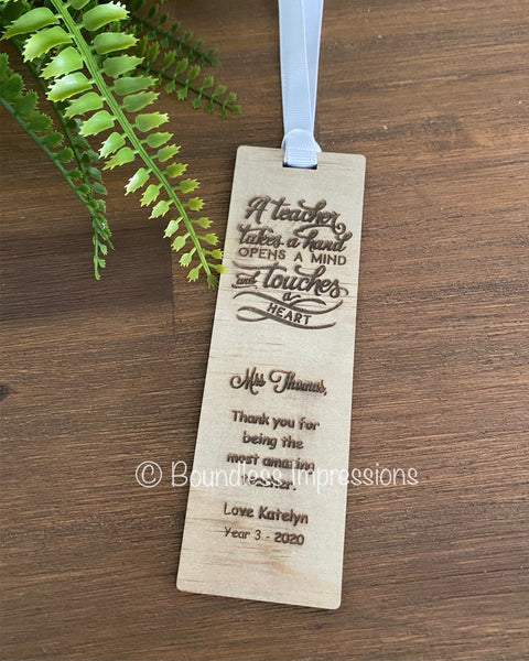 Timber Bookmarks