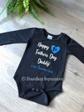 1st Fathers Day - Long Sleeve Bodysuit