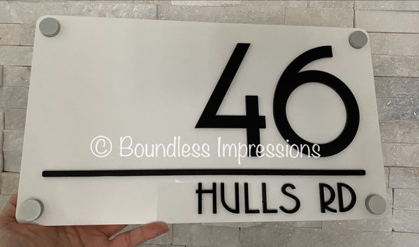 3D Rectangle Address Plaque