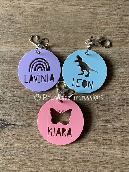 Acrylic Cutout Keyring/Bag Tags