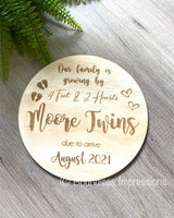 Engraved Pregnancy Announcement Plaque