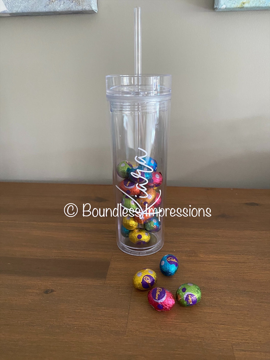 Skinny Tumblers with Straw