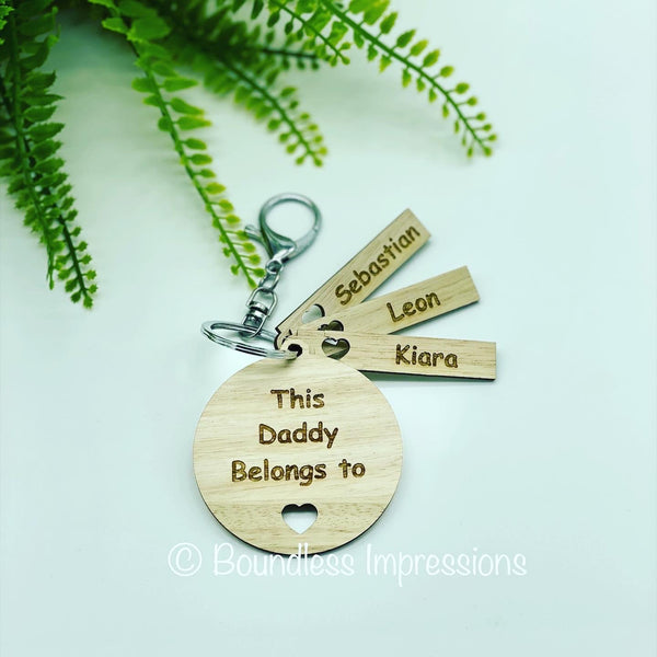 'This Daddy Belongs to' Keyring