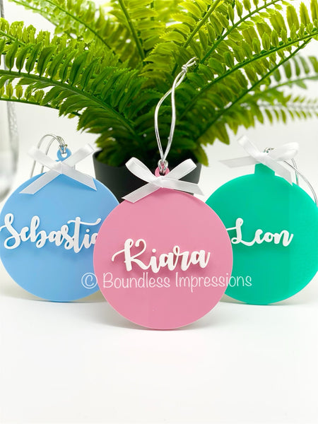 Personalised Acrylic - Christmas Tree Ornaments