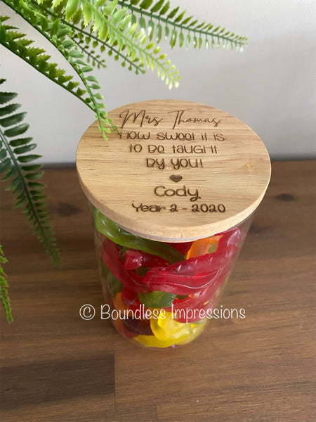 Engraved Sweets/Lolly Jar (Small)