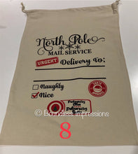 Load image into Gallery viewer, Personalised Santa Sack (North Pole Mail Service) No.8
