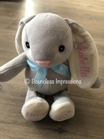 Personalised Easter Bunny (Blue Ribbon)