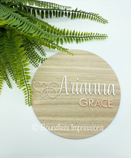 Birth Announcement/Name Plaque