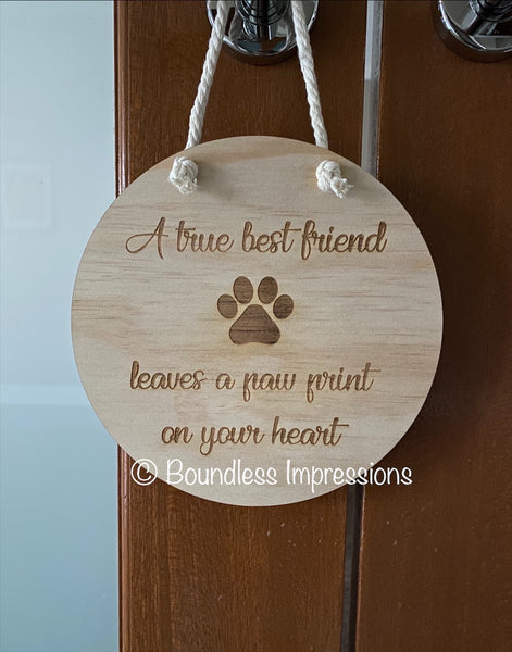 Engraved Timber Wall Plaque Round