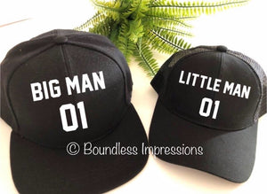 Matching Men/Kids Caps (Big Man/Little Man)