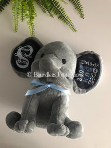 Personalised Baby Elephant (Grey)