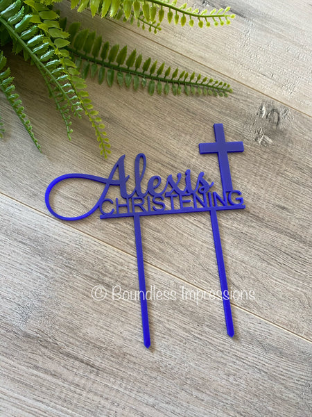 Acrylic Cake Topper Christening/Communion
