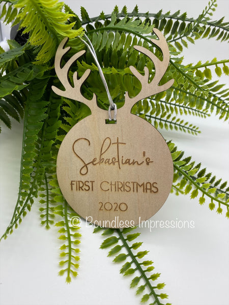 Timber Christmas Tree Ornament - Reindeer