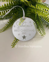 Mirror Acrylic - Engraved Ornaments