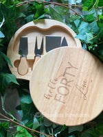 Personalised Swivel Cheese Board & Knife Set