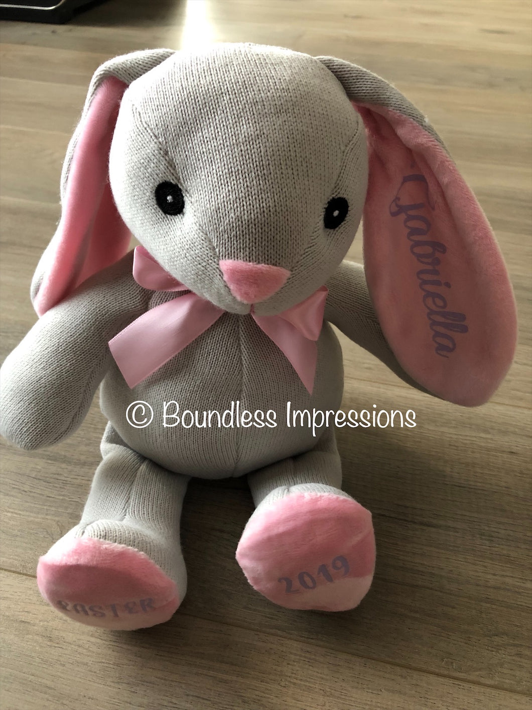 Personalised Easter Bunny (Pink)