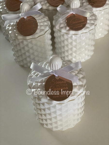 Baby Geo Cut Jar Soy Candles