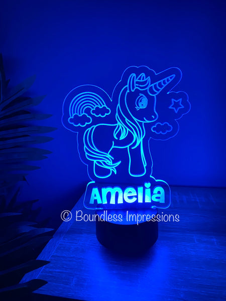 Personalised Custom Cut Out Colour Changing Night Lights