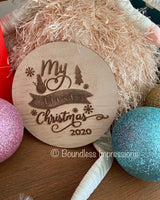 'My First Christmas' Milestone Plaque